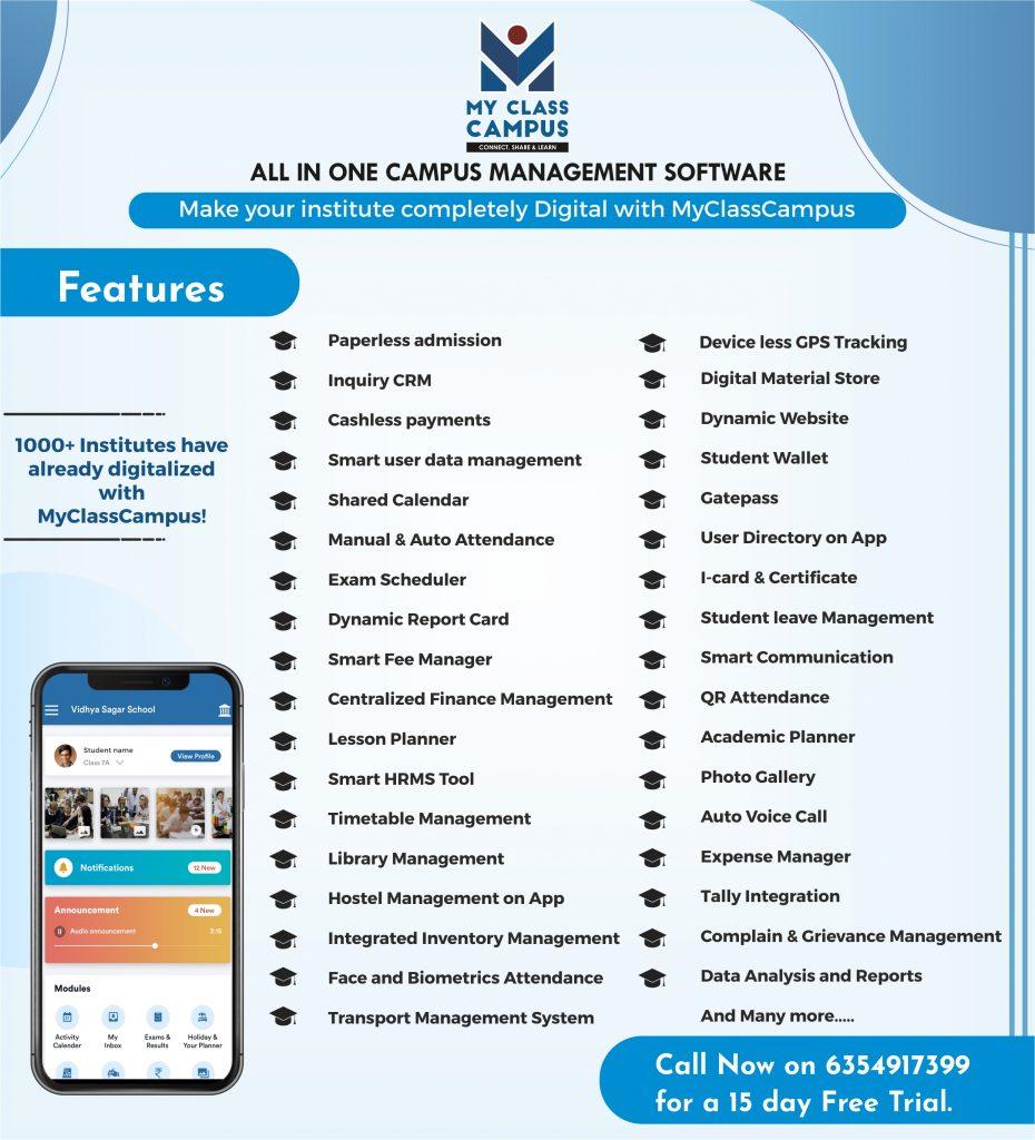 MyClassCampus School ERP features